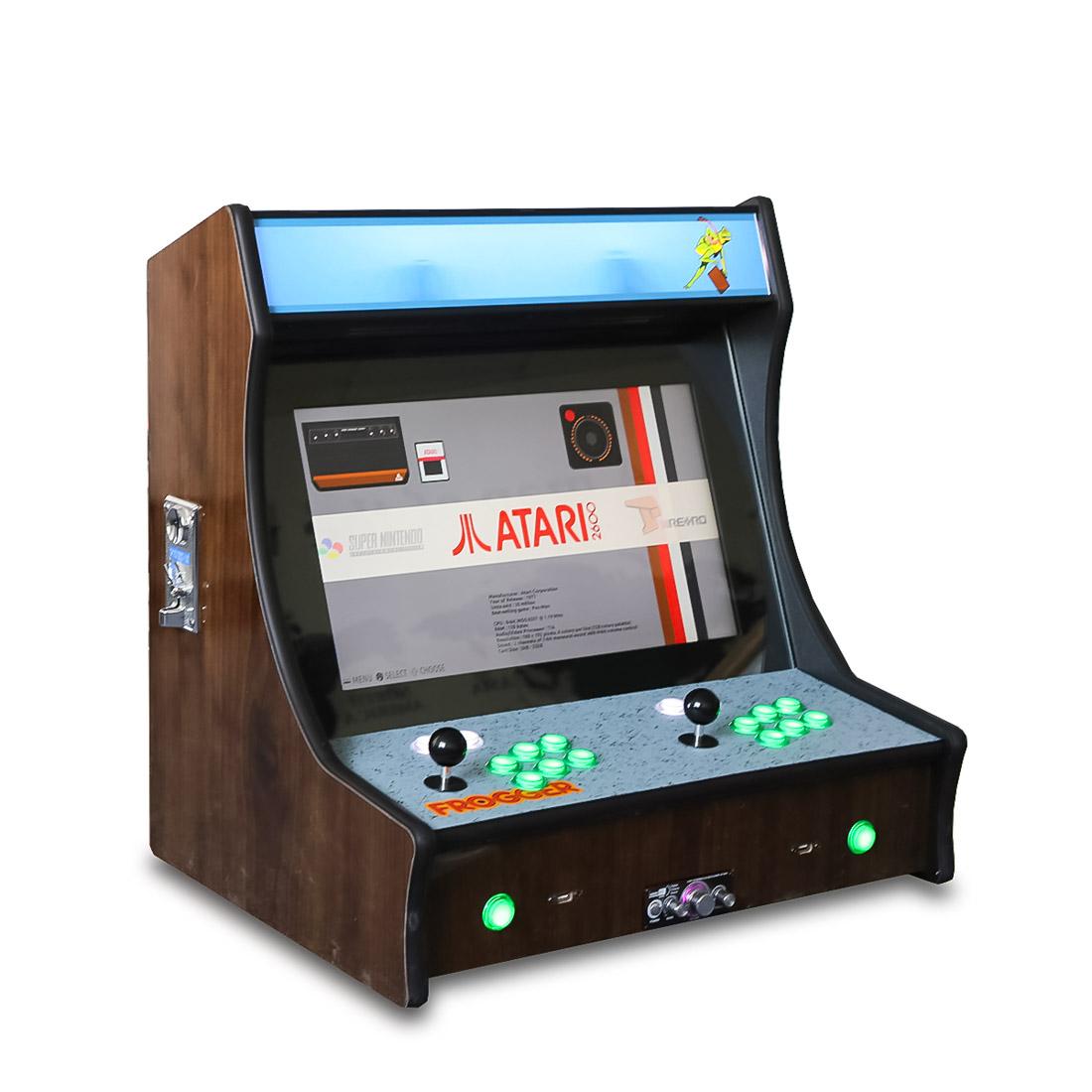 21.5″ Woodgrain Frogger Bartop Arcade